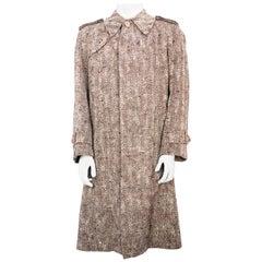 1970s Valentino Brown Wool Coat