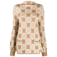 1970s Valentino Geometric Pattern Sweater