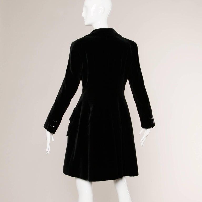 Women's 1970s Valentino Vintage Black Velvet Coat/ Jacket For Sale