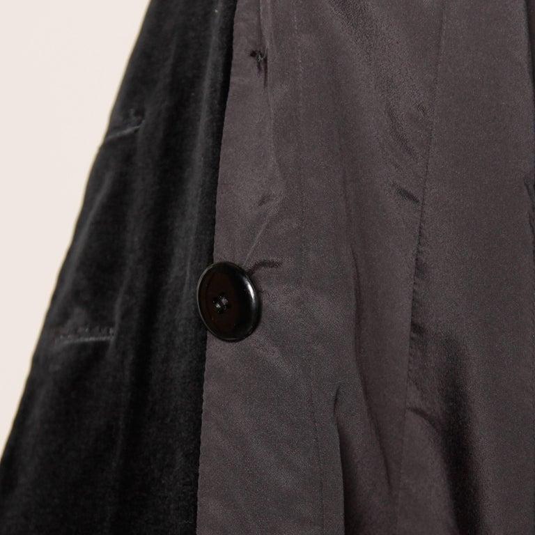 1970s Valentino Vintage Black Velvet Coat/ Jacket For Sale 4