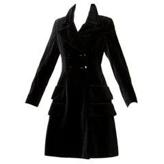 1970s Valentino Vintage Black Velvet Coat/ Jacket