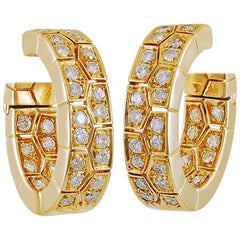 1970s Van Cleef & Arpels Diamond Hoop Ear Clips