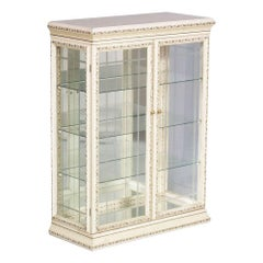 1970s Venetian Decorated Showcase with Enamels and Gold Leaf