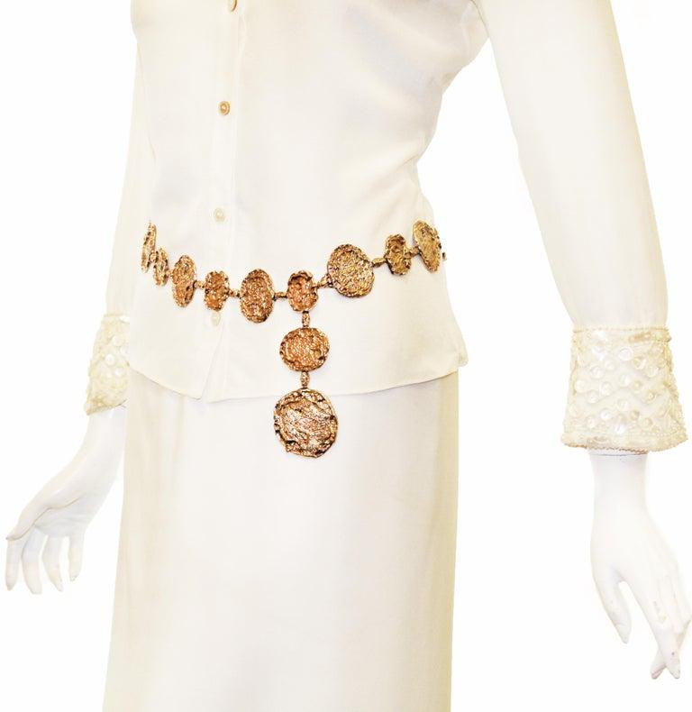 Orange 1970s Vermeil Rare Cartier Belt or Necklace For Sale