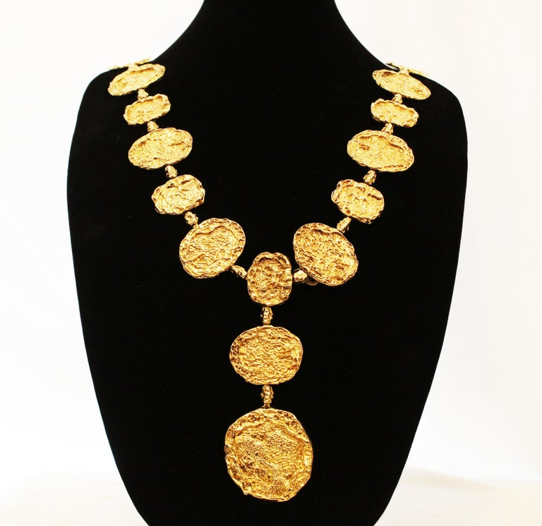 1970s Vermeil Rare Cartier Belt or Necklace In Excellent Condition For Sale In Palm Beach, FL