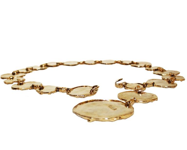 Women's or Men's 1970s Vermeil Rare Cartier Belt or Necklace For Sale