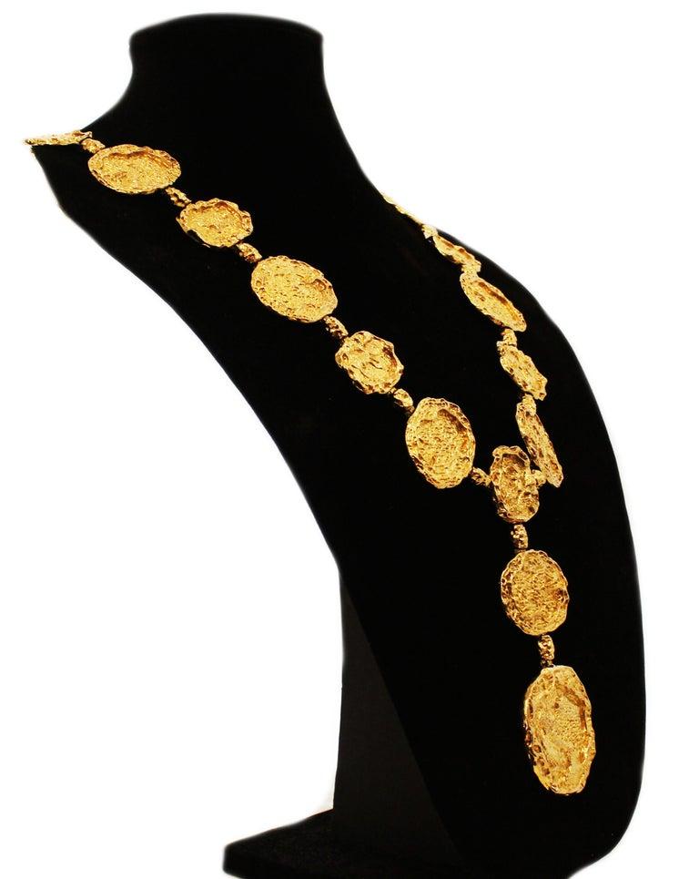 1970s Vermeil Rare Cartier Belt or Necklace For Sale 1