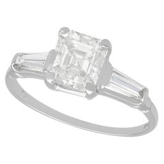 1970s Vintage 1.75 Carat Diamond and White Gold Solitaire Ring
