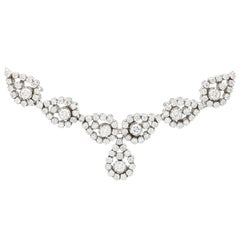 1970s 6.85 Carat Diamond and White Gold Necklace