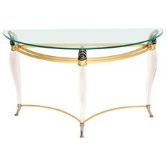 1970s Vintage Acrylic and Glass Console Table