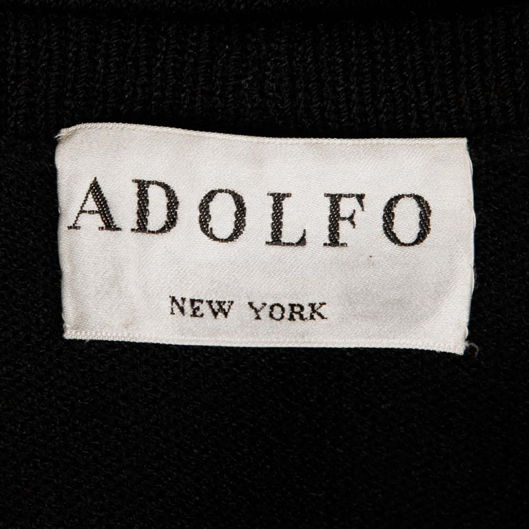 1970s Vintage Adolfo Sweater Top In Excellent Condition For Sale In Sparks, NV
