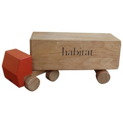 1970s Vintage Advertising Toy Lorry for Habitat Wooden Toy Lorry by Ryk Heuff