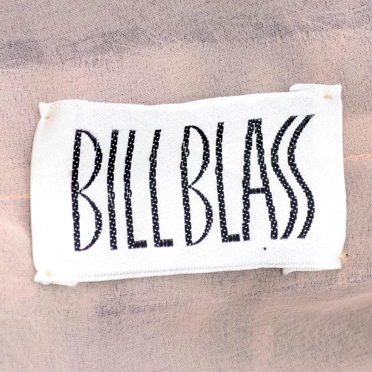 1970s Vintage Bill Blass Black Net & Lace Cocktail Dress For Sale 8