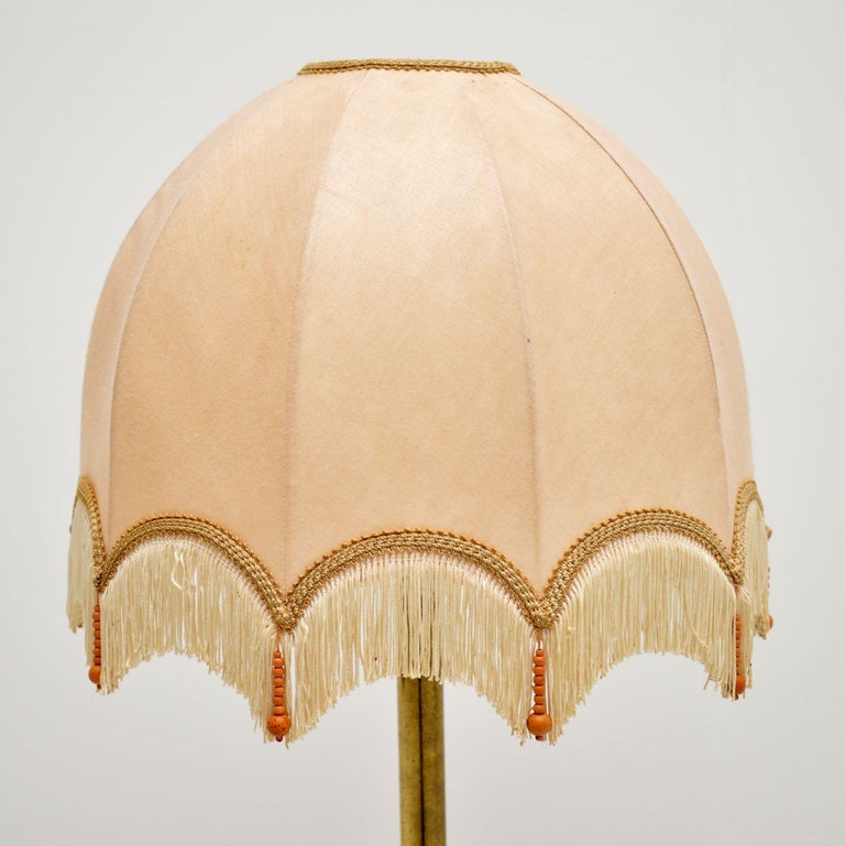 1970s Vintage Brass French Table Lamp In Good Condition For Sale In London, GB