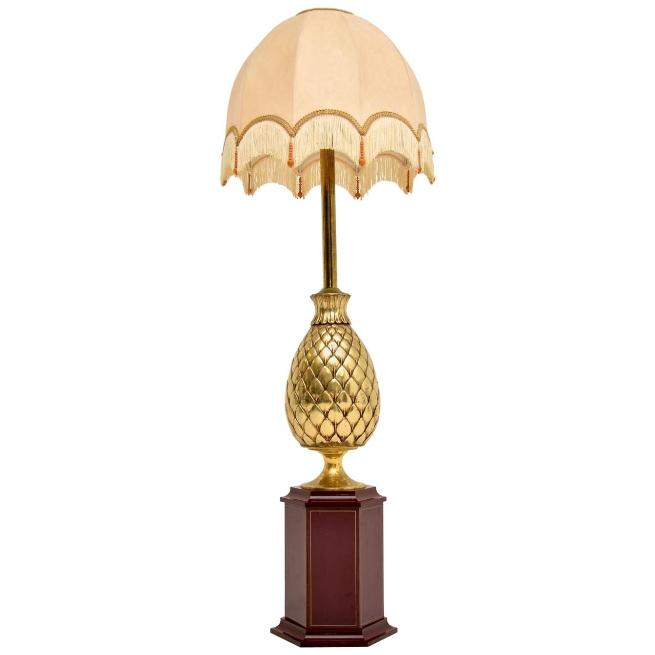 1970s Vintage Brass French Table Lamp