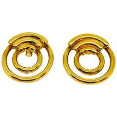 1970's Vintage CARTIER Aldo Cipullo 18K Yellow Gold Hoop Earrings