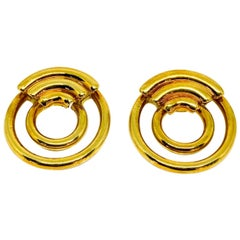 1970's Vintage CARTIER Aldo Cipullo 18K Yellow Gold Hoop Earrings