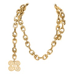 1970's Vintage Chanel Gold Chain Belt Necklace