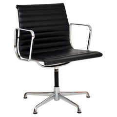 1970's Vintage Charles Eames EA108 Leather Desk Chair by ICF