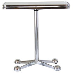 1970s Vintage consolle Rolling Table Adjustable Height by Allegri