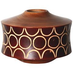 1970s Vintage Decorative Wood Bowl