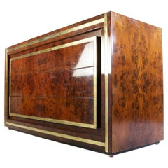 1970's Vintage Dresser in Burl by Willy Rizzo Italy