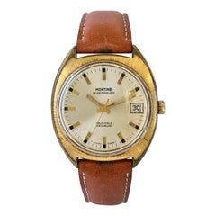 1970s Vintage Gold-Plated and Stainless Steel Back Swiss Watch