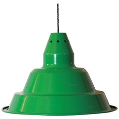 1970s Vintage Green Lampshade in Industrial Style