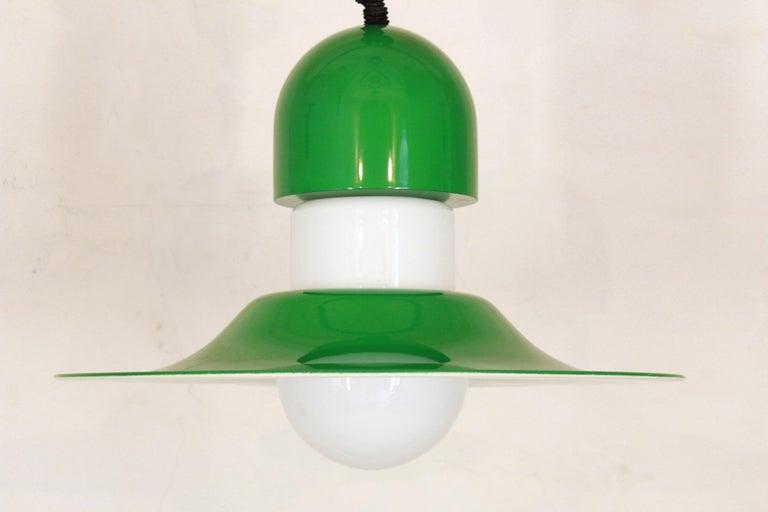 Italian 1970s Vintage Green Pendant For Sale