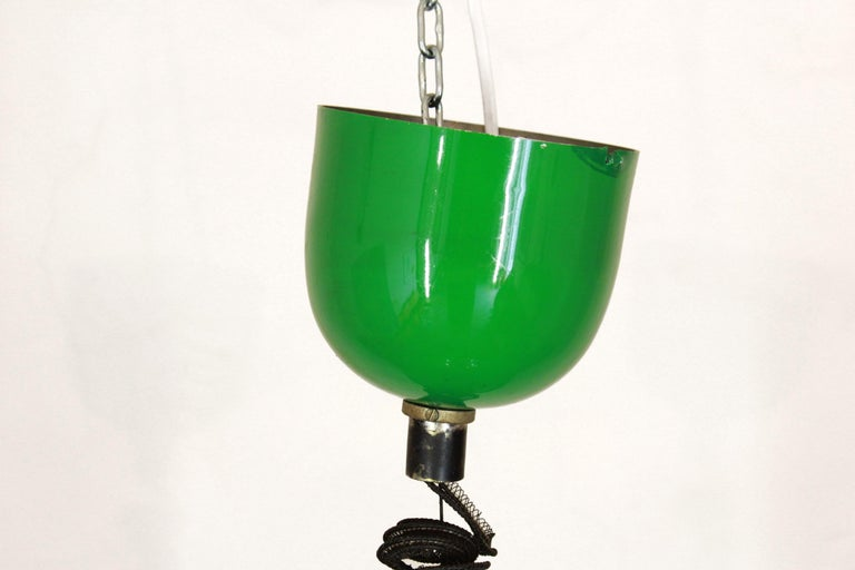 1970s Vintage Green Pendant In Good Condition For Sale In Ceglie Messapica, IT