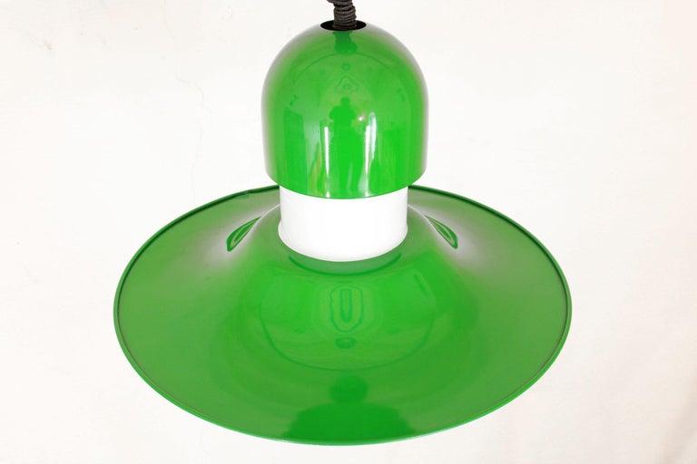 Opaline Glass 1970s Vintage Green Pendant For Sale