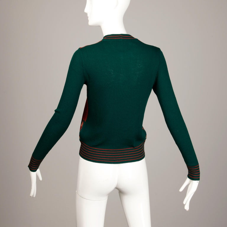 1970s Vintage Gucci Golf Sweater Top In Excellent Condition For Sale In Sparks, NV