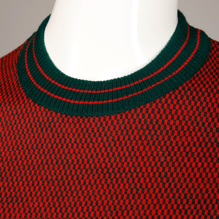Women's 1970s Vintage Gucci Golf Sweater Top For Sale