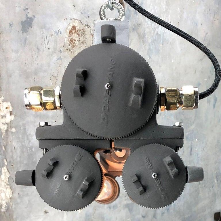 1970s Vintage Industrial Black Flameproof Edison Twin Striplight by Daeyang For Sale 11