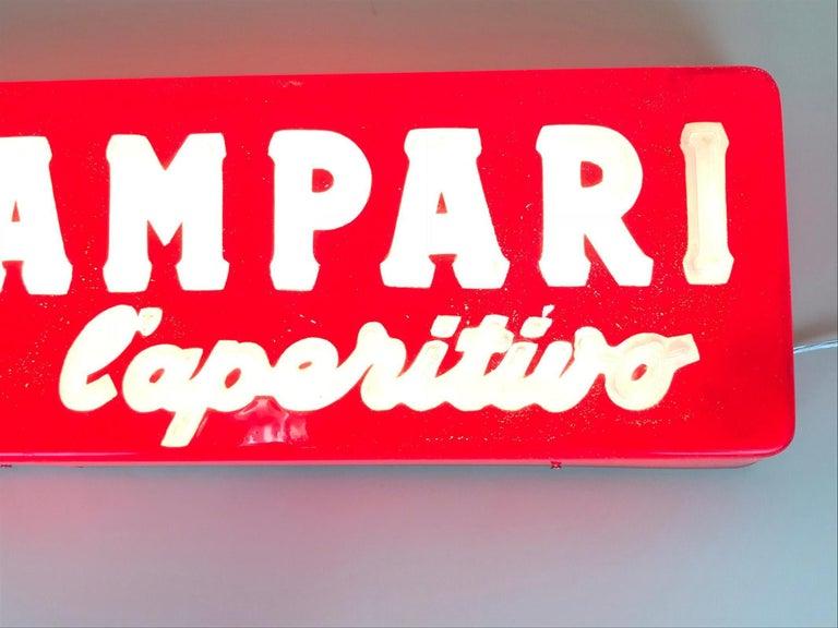 1970s Vintage Italian Campari L'aperitivo Campari the Aperitif Illuminated Sign For Sale 5