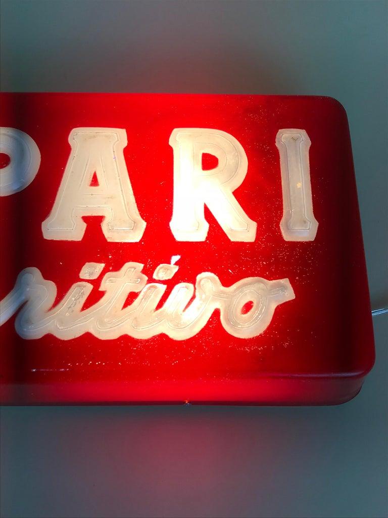 1970s Vintage Italian Campari L'aperitivo Campari the Aperitif Illuminated Sign For Sale 6