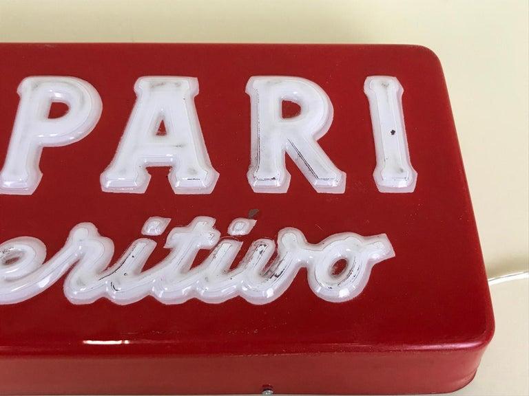 1970s Vintage Italian Campari L'aperitivo Campari the Aperitif Illuminated Sign For Sale 9