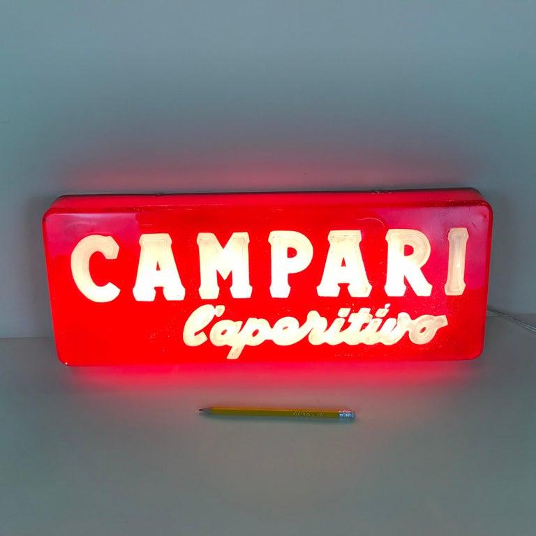 1970s Vintage Italian Campari L'aperitivo Campari the Aperitif Illuminated Sign For Sale 2
