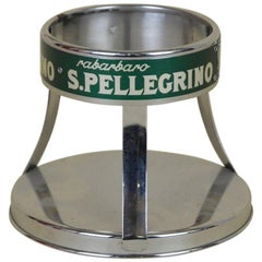 1970s Vintage Italian Metal San Pellegrino Mineral Water Bottle Holder
