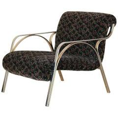 1970s Vintage Italian Velvet Armchair