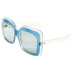 1970's Vintage JEAN PATOU Blue Square Sunglasses