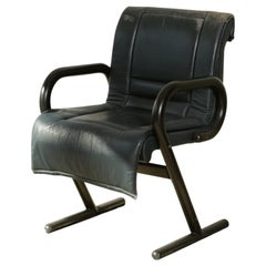 1970s Vintage Mariani Italian Leather Desk Chair Made For The Pace Collection