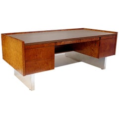 1970s Vintage Mid-Century Modern Minimalist Executive Floating Desk by Biltrite