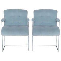1970s Vintage Milo Baughman for Thayer Coggin Side Chairs