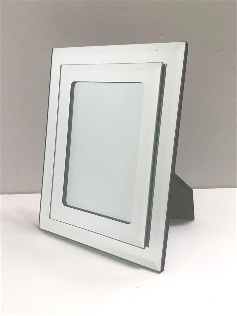 Mid-Century Modern 1970s Vintage Mirrored Picture Frame For Sale