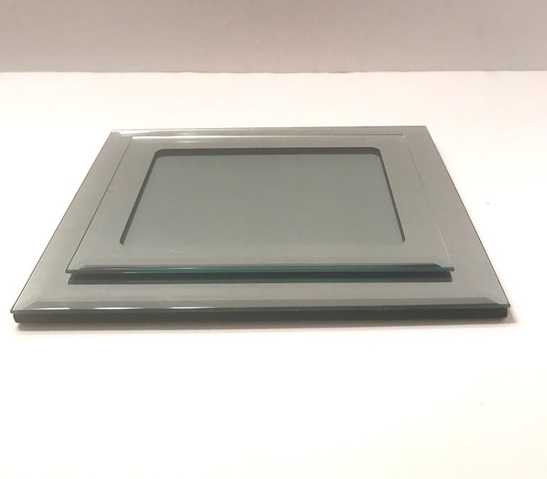 Glass 1970s Vintage Mirrored Picture Frame For Sale