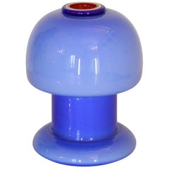 1970s Vintage Murano Blue Table Lamp Designed by Vistosi