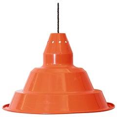 1970s Vintage Orange Lampshade in Industrial Style