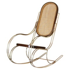 1970s Vintage Rocking Chair in Thonet Style