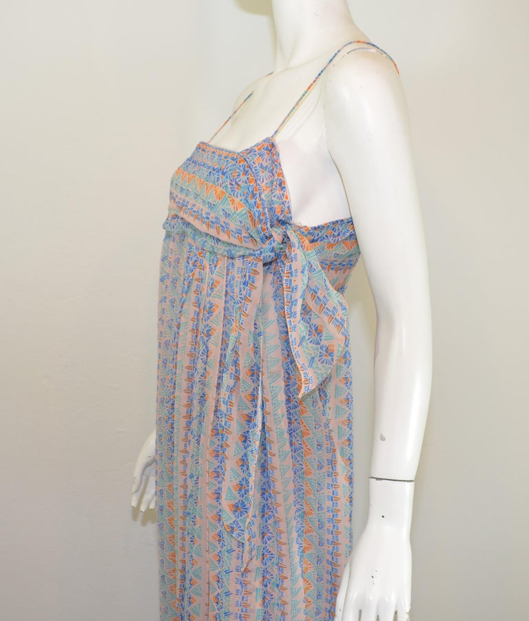 1970's Vintage Stephen Burrows Printed Crepe 3-Piece Ensemble Set In Excellent Condition For Sale In Carmel by the Sea, CA